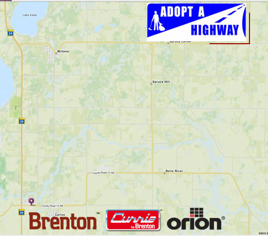Brenton Adopt-A-Highway Map