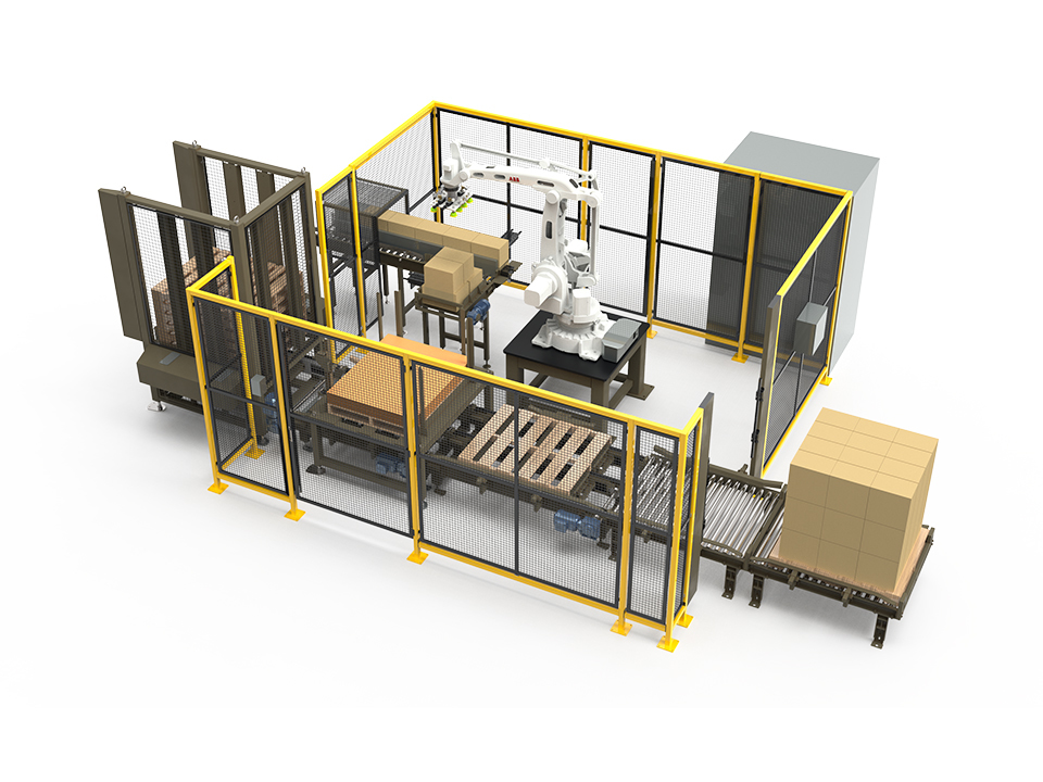Rpx Series Robotic Palletizer Rendering